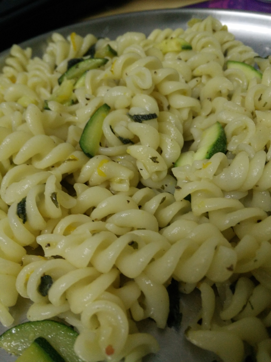 Spicy Zucchini Orange Pasta