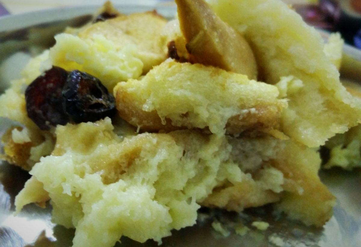 Bread Apple pudding